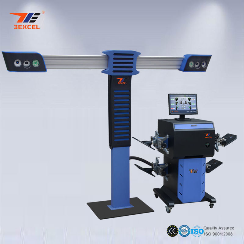 4 Precision Cameras 3D Wheel Aligner , 3D Car Wheel Alignment And Balancing Machine
